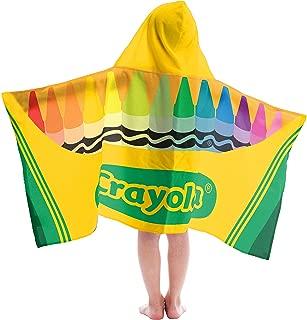Jay Franco Crayola Classic Multi Color Cotton Hooded Bath/Pool/Beach Towel