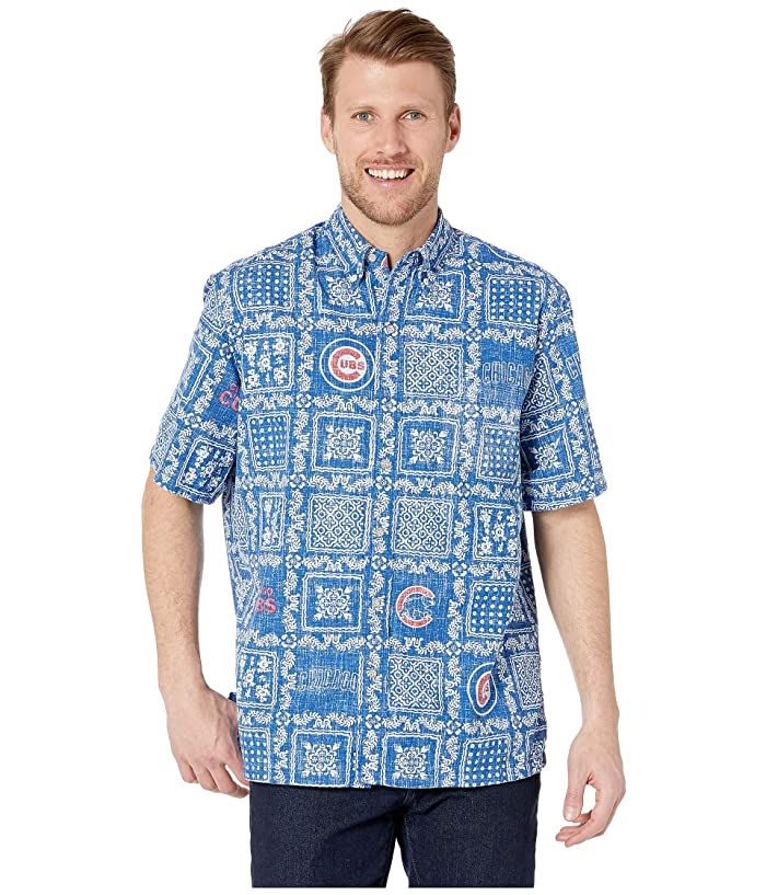 Reyn Spooner Chicago Cubs Lahaina Hawaiian Shirt (Blue) Men
