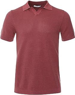 Circolo 1901 Men's Pique Knitted Riviera Polo Shirt Red