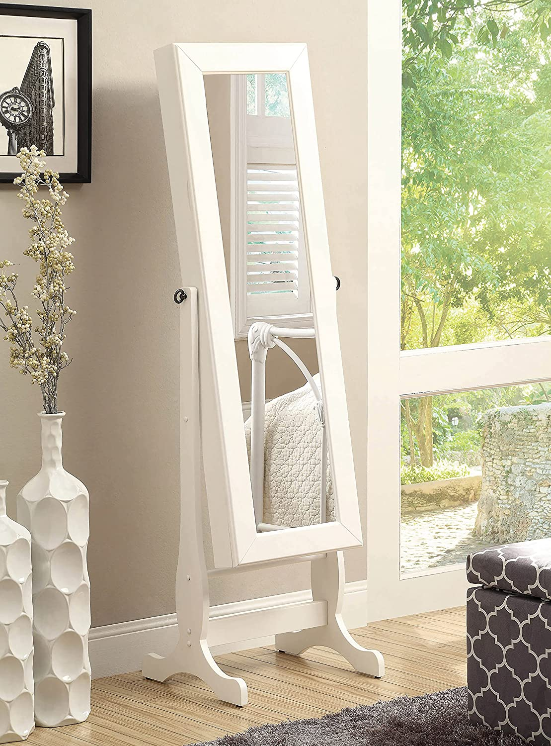 Coaster Home New arrival Max 85% OFF Furnishings Jewelry Cheval and with Mirror Shelves