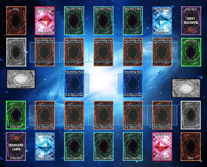 Trust Very popular 2 Player Duel Link Zones Custom Playmat cm Game Mat Rubber - 53