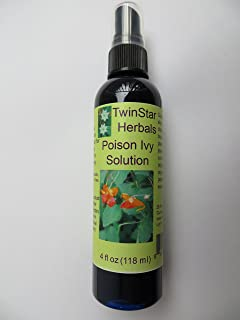 TwinStar Herbals Poison Ivy Solution 4 oz natural organic herbal blend with peppermint essential oil