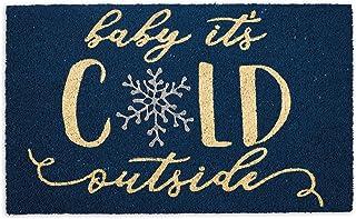DII Indoor/Outdoor Natural Coir Holiday Season Doormat, 18x30, Baby Its Cold