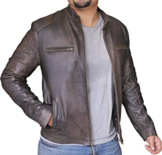 Civil War Captain America's Distressed Brown Cowhide Leather Jacket
