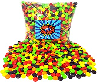 CrazyOutlet Pack - Wonka Original Spree Hard Candy, Cherry-Strawberry, Orange, Lemon, Green Apple and Grape Flavored Party Candies, Bulk Pack, 2 Lbs