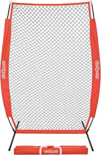 GoSports 7` x 4` I-Screen - Baseball & Softball Pitching Screen Net, Must Have for Safe Training - Includes Foldable Bow F...