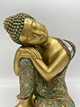 Buddha Statue for Home Decor Meditating Resin Statue Figurine for Tabletop Desk Living Room or Office Space