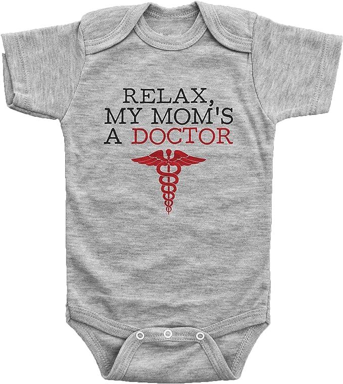 Custom Baby Onesie Doctor ONESIE\u00ae Relax my Mom is a Doctor Doctor Gift Gift for Doctor Dr. Baby Shower Gift Baby Girl Boy Onesie