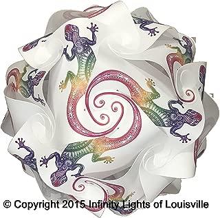 Puzzle Lights Gecko Print Pattern Medium Infinity Lights,, IQ Lights, LuvaLamps, Jigsaw Lamps, ZE Lights 30 Piece Pack USA