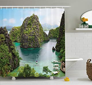 Kenneth Camilla Cliff in Philippines Shower Curtain, Cleaning Waterproof Polyester Bathroom Curtain,36 x 78 Inches