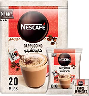 Nescafe Cappuccino Foamy Coffee Mix with Chocolate Sprinkles 19.3g (20 Sachets)