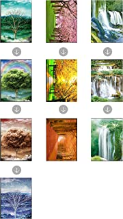 Those Flipping Pictures 3D Posters and Lenticular (3 Images in 1) Wall Art Optical Illusion Images and Holographic Pictures (Nature-3 Posters)