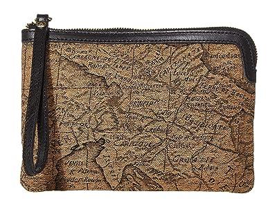 Patricia Nash Cassini Wristlet (Tan/Black) Wristlet Handbags