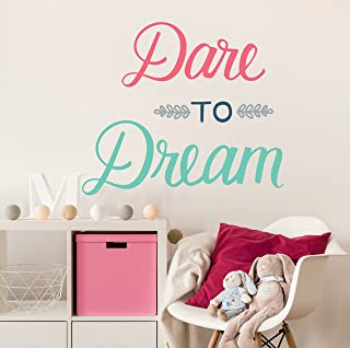 Paper Riot Co. Wall Decor - Inspirational Quote. Peel and Stick Wall Decals - Easy to Remove Vinyl Quote - Dare to Dream.