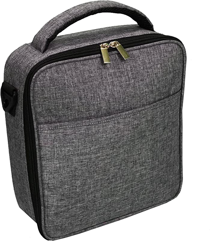 UPPER ORDER Durable Insulated Lunch Box Tote Reusable Cooler Bag 25 Percent Larger Storage Charcoal Gray