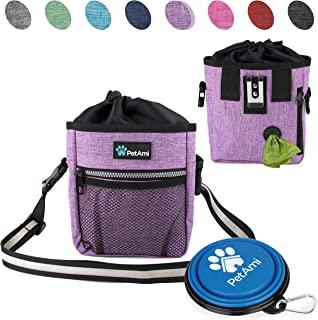 59d5b0ca46c ... Pouch Bag with Waist Shoulder Strap, Poop Bag Dispenser and Collapsible  Bowl | Treat Training Bag for Treats, Kibbles, Pet Toys | 3 Ways to Wear