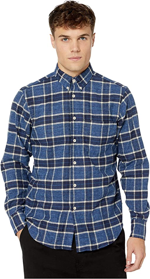 Northern Brushed Flannel - Blue/Navy