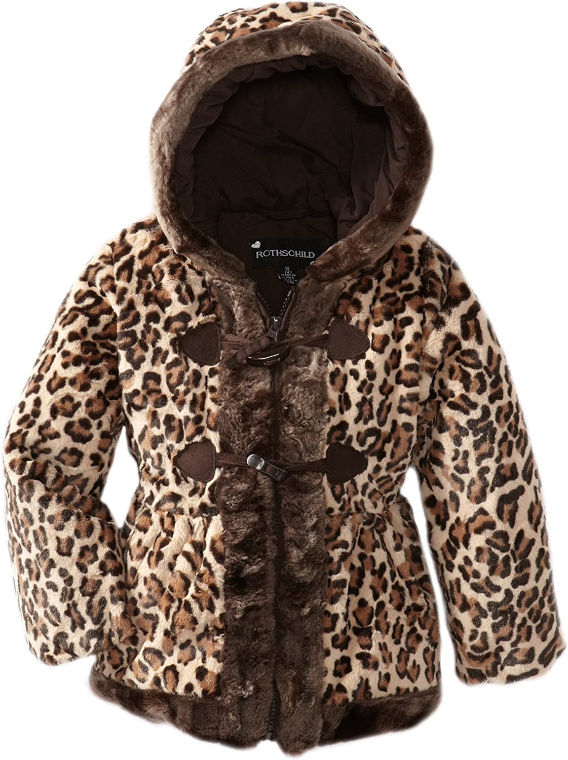Rothschild Little Girls' Wild By Nature Faux Fur Toggle Jacket