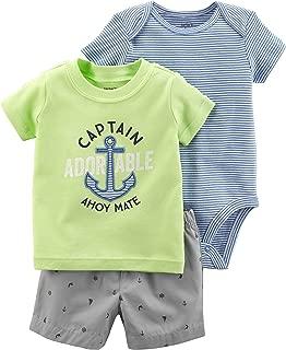 Carter ' s 婴儿男孩3m-24m 3件套队长小短裤套装