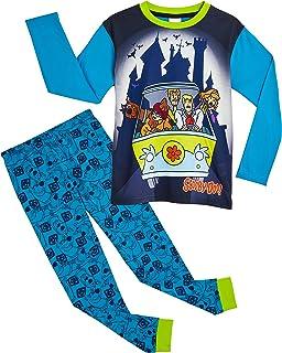 Scooby Doo Pijama Niño, Conjunto Pijamas Niños con Pantalón y Camiseta de Manga Larga, Ropa Niño de Dormir 100% Algodón, R...