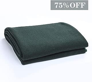 PuTian Australian Soft Merino Wool Blanket Warm Throw for Winter Autumn Lightweight GrennerPasturesGreen 70by50 inch