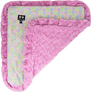 product image for Bessie and Barnie Ice Cream/Cotton Candy Luxury Ultra Plush Faux Fur Pet, Dog, Cat, Puppy Super Soft Reversible Blanket (Multiple Sizes)