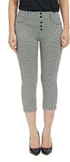 Women's Ponte Capris - High Waisted - Pull-On - Stretch