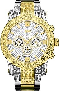 JBW Luxury Men's Lynx .80 Carat Diamond Wrist Watch with Stainless Steel Bracelet