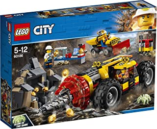 Lego City Mining Power Driller Toy Vehicle Set, Multi-Colour, 60186