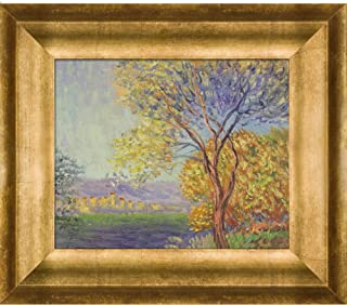overstockArt MON2476-FR-99468X10 Monet Antibes View of Salis with Athenian Gold Antique Gold Finish Frame