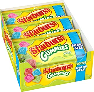 Starburst Sour Gummies Candy, 3.5 ounce (15 Share Size Packs)