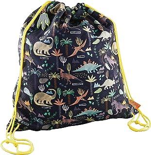 Dinosaurs Yellow 16 x 14 Inch Polyester Drawstring Kit Backpack Bag