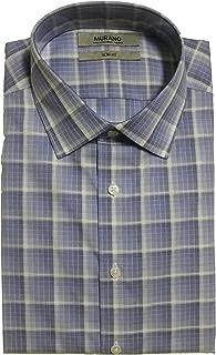 Slim Fit Spread Collar Checked Dress Shirt S75DM050 Blue