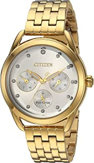 Citizen Women's 'Drive' Quartz Stainless Steel Casual Watch, Color:Gold-Toned (Model: FD2052-58A)