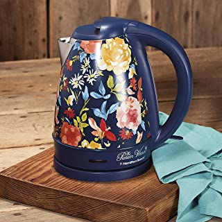 The Pioneer Woman 1.7 Liter Electric Kettle Blue/Fiona Floral