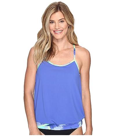 Nike Cascade Sport Tankini Top (Medium Blue) Women