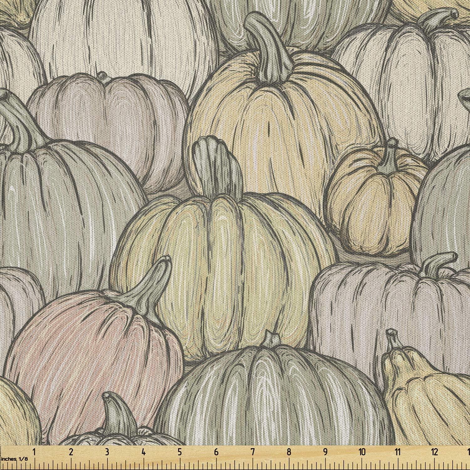 Ambesonne Challenge the lowest price of Japan Pumpkin Fabric by The Halloween Organic Reservation Yard Sketchy