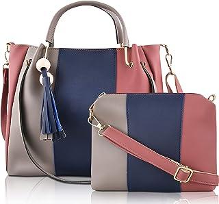 SaleBox® P.U. Leather Handbag Set of Two Shoulder Bag with Sling Bag leather handbags Set for girls stylish latest Ideal f...