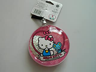 Hello Kitty 40th Anniversary Clear glass Front glitter snow Christmas Ornament