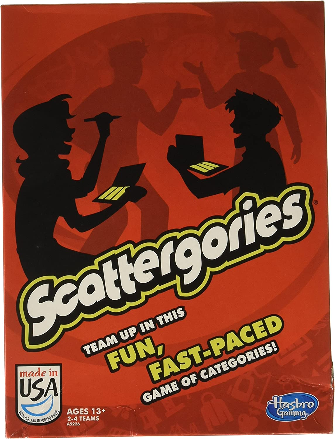 Hasbro Scattergories Board Game, Model Number A5226, Ages 13+ by Hasbro