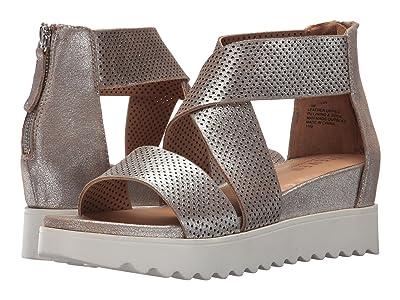 STEVEN NEW YORK NC-Klein Wedge Sandal (Metallic Leather) Women