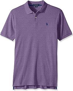 2509fd2e2 U.S. Polo ASSN. Mens Solid Interlock Polo Shirt Solid Interlock Short-Sleeve  Polo Shirt