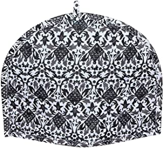 GDONLINE Black & White Ombre Mandala Cotton Handmade Printed Tea Cosy Indian Mandala Tea Cozies Home Decorative Cotton Creative Tea Pot Cover Tea Cozy Tea Port Cover 14 x 11 Inch
