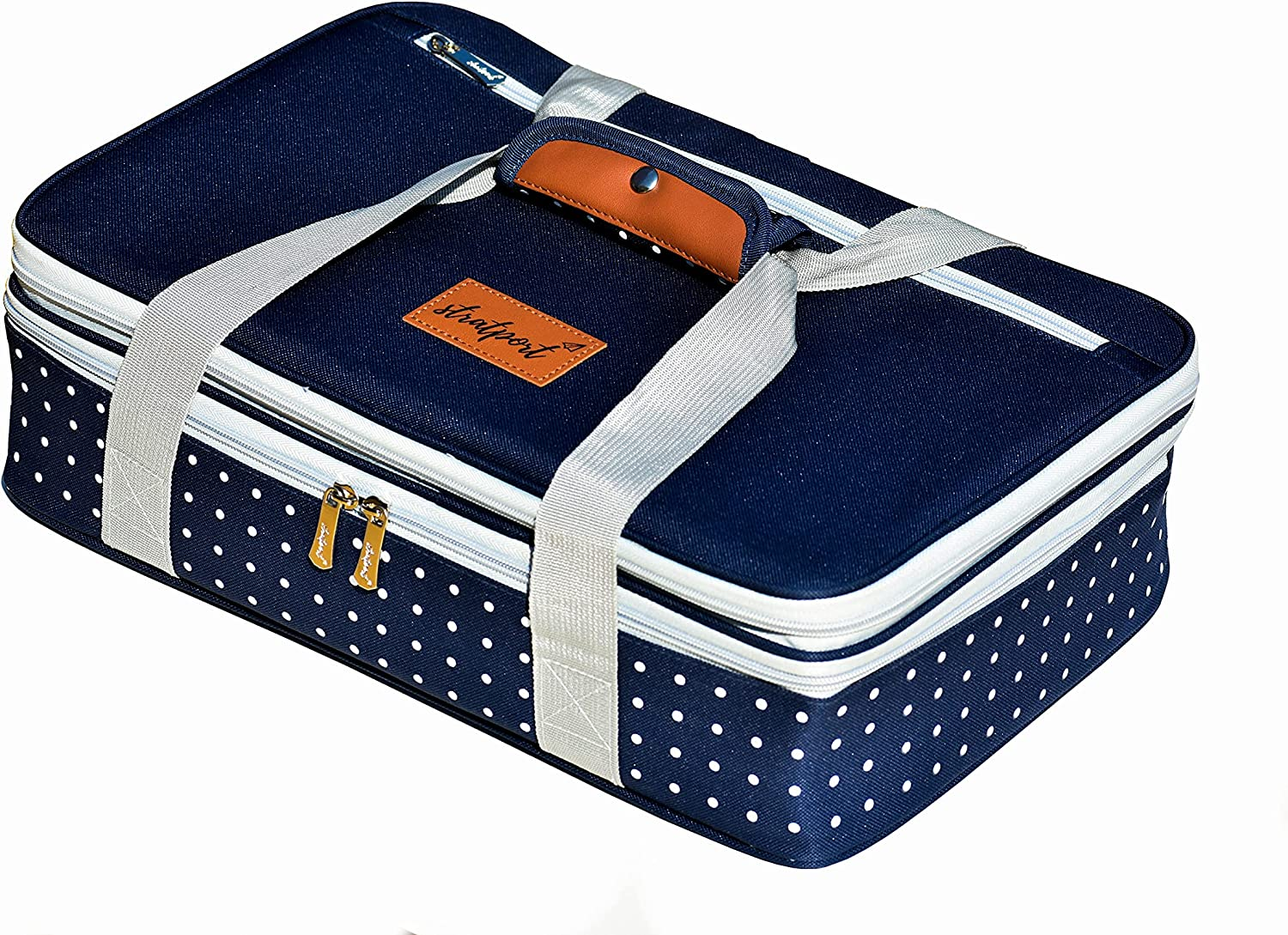 Insulated Casserole Carrier, Expandable Lasagna Lugger, Food Carrier for Hot or Cold Food Fits 9