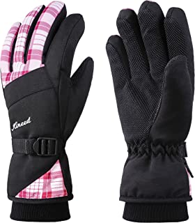 MCTi Waterproof Womens Ski Gloves Fleece Lined Snowboard Snow Riding Biking Driving Thinsulate Winter Warm Gloves