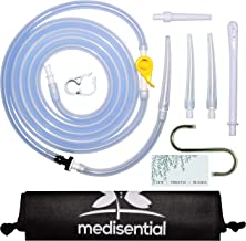 Medisential Enema Bag, Bucket Kit or Bulb Replacement Parts Pack (7ft Tubing, Tips, Connectors, Check-Valve, Stopcock, Clamp, Storage Bag & Hook)