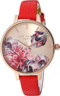 Women's Kate Stainless Steel Quartz Watch with Leather Strap, Multi, 11.2 (Model: TE50005007)