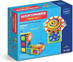 Magformers Magnets in Motion Set (37-pieces) Magnetic Building Blocks, Educational Magnetic Tiles Kit , Magnetic Construct...