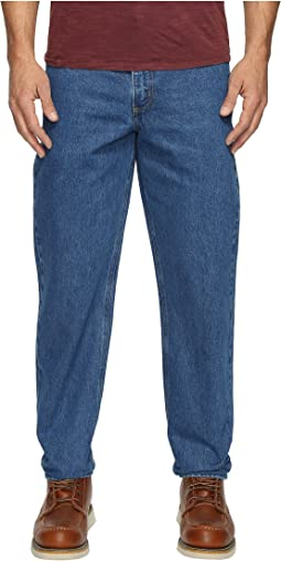 Relaxed Fit Tapered Leg Jean