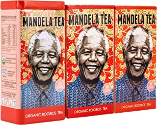 Mandela Tea - Organic Rooibos Tea (60 Tea Bags) | Delicious Organic Red Herbal Tea from South Africa | Includes Stay Fresh Gift Tin | Zero Calorie or Caffeine | Antioxidant Rich All Natural Tea Leaves